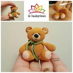 Mini forever friends bear #hakenisleuk #hakeniship #haken #crochet #crocheting #crochetaddict #crochetaddicted #häkeln #virka #crochetofinstagram #instacrochet #instahaken #instacrochetbylinda #dehaakprinses #mykrissiedolls by dehaakprinses