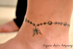 anklet tattoo with charm - Google Search