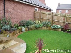 raised bed and circular lawn - Google Search