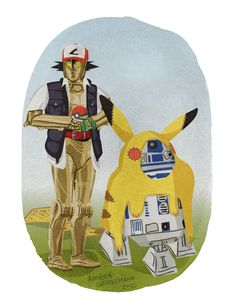 Halloween costume ideas for droids  illustrations by Andrea Gerstmann