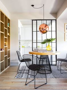 Condo Living, Home And Living, Dining Room Design, Kitchen Design, Renovation Design, Small Apartment Interior, Room Interior, Appartement Design, Dining Room Inspiration