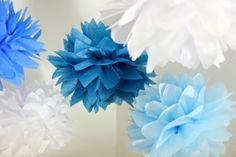 It's A Boy / Boy nursery decor 5 tissue poms / Blue by PomGoddess, $15.00