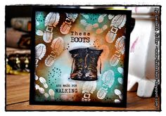 Liesbeth's Arts & Crafts Used Parts, I Card, Fairy Tales, Arts And Crafts, Journey, Boots, Stamps, Mix Media, Design