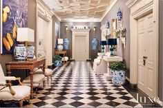 Mary McDonald's design for Luxe Magazine in Graystone Mansion