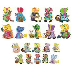 Easter Sunbonnets Applique Machine Embroidery Designs | Designs by JuJu