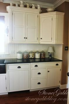 Beadboard backsplash
