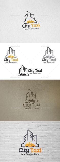 City Taxi  Logo Design Template Vector #logotype Download it here:  http://graphicriver.net/item/city-taxi-logo-template/8974764?s_rank=724?ref=nexion