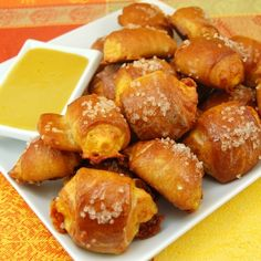 Pretzel Bites With Honey Mustard Sauce