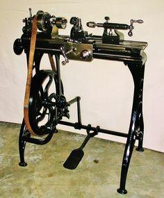 Lathe Antique Metal Lathe | eBay
