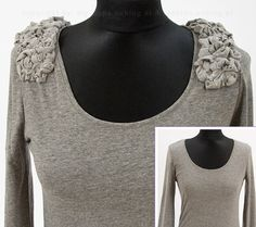 Spice Up a Sweatshirt with Shoulder Gathers