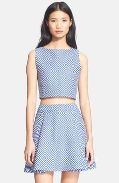 Piece & Co. and Alice + Olivia 'Cerra' Jacquard Crop Top available at #Nordstrom
