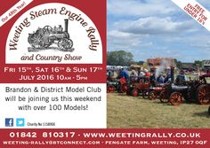 Brandon & District Model Club will be at this years Weeting Steam Engine Rally & Country Show with over 100 models!