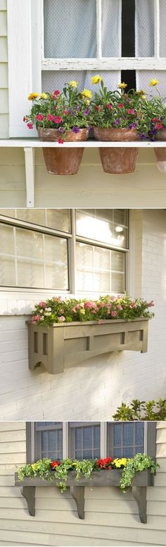 Window Boxes for Flowers