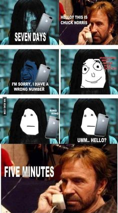 Chuck Norris joke of the ring movie. Funny Relatable Memes, Funny Jokes, Hilarious, Stupid Funny, The Funny, 9gag Lustig, Funny Photos, Funny Images, Chuck Norris Memes