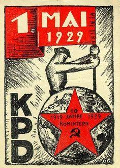Affiche du KPD pour le 1er Mai 1929