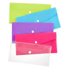 Envelope Snap Pouch $1.79 each have seven of these in my desk drawers and they are the perfect size for storing stamps, address labels, checks to deposit, receipts to register, travel receipts, temporary gift receipts, etc