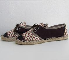 Sneaker algodón estampado rojo toscana T41 - María Jurado
