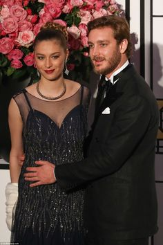 New mother Beatrice Borromeo was showing no hint of sleepless nights as she put on a glamorous display at Monaco's Rose Ball