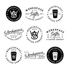 ryanlbowles - Ryan Bowles Design: I'm grateful that you guys enjoy seeing my process and development stages. Here's a bunch of concepts I was playing with for a fresh cafe in UAE ☕️ . Writing Process, Writing Help, R Cafe, American Logo, Topics For Research, Real Estate Branding, Logo Creation, Online Logo, Custom Writing
