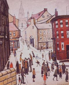 Laurence Stephen Lowry Berwick-upon-Tweed Salford, Berwick Upon Tweed, Spencer, English Artists, Urban Life, Naive Art, Art For Art Sake, Urban Landscape, Landscape Art