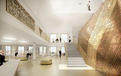 Ferrari Architectes TAS Beaulieu Lausanne Lausanne, Ferrari, Stairs, Home Decor, Urban Planning, Stairway, Decoration Home, Room Decor, Staircases