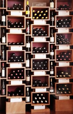 Magnificent Wine Cellars (17 photos). Superbcook.com Create wine display screen behind the hostess stand