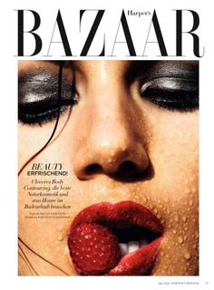 "Duchess Dior: ""Refreshing Beauty"" Valery Kaufman for Harper's Bazaar Germany May 2016 Lauren Hutton, Fashion Magazine Cover, Fashion Cover, Beauty Photography, Fashion Photography, Yves Saint Laurent, Grey Eye Makeup, Burgundy Lips, Red Lips"