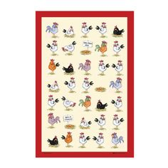 Samuel Lamont Tea Towel | How about these to give any kitchen a bright fun feel?  Dry those dishes with a smile!