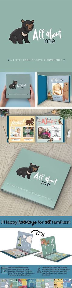 Keepsakes and Baby Announcements 117388: First Year Baby Memory Book + Baby Journal. Modern Baby Shower Gift. Keepsake... -> BUY IT NOW ONLY: $40.96 on eBay!