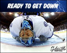 Ready to watch Ben Bishop get down! Stanley Cup Finals, Hockey Goalie, Football Helmets, Watch, Clock, Bracelet Watch, Clocks