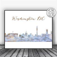 Washington DC Skyline Washington DC Print Washington DC Art