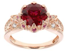 Remy Rotenier For Bella Luce(R) 3.74ctw Lab Created Ruby & Diamond Simulant Eterno (Tm) Rose Ring