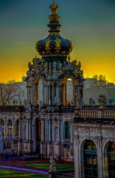 Crown Gate at Zwinger - Dresden, Saxony, Germany Beautiful Places To Visit, Beautiful World, Great Places, Beautiful Sunset, Cities In Germany, Germany Travel, Versailles, Dresden Bombing, Places To Travel