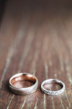 Unique wedding bands for bride and groom...we ♥ this! moncheribridals.com
