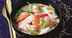 Blanquette de sole et saumon aux crevettes