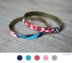 Bracelet Wax Afraicain - DIY Bijoux - Jewelry - Tuto - Tutoriel - Fabric - Tissu -