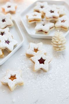 Linzer Christmas Cookies are always the prettiest cookie on the plate! Love this recipe.