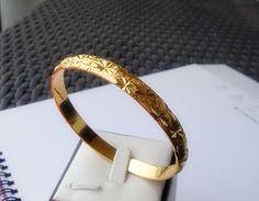 Elegant 18kk GP gold luxury bracelet chain women's gift sz9