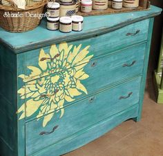 Shizzle Design painted furniture Authorized Retailer CeCe Caldwell's chalk clay Paints Not So Shabby 2975 West Shore Drive Holland, Michigan 49424 colors ideas dahlia dresser vintage for sale