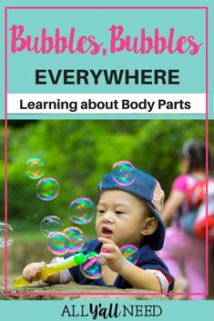 Use bubbles to teach body parts! This freebie contains a chant and pictures of b… Use bubbles to teach body parts! This freebie contains a chant and pictures of body parts. Fun for early childhood! Speech Therapy Activities, Language Activities, Science Activities, Classroom Activities, Science Resources, Classroom Ideas, Articulation Therapy, Science Ideas, Science Experiments