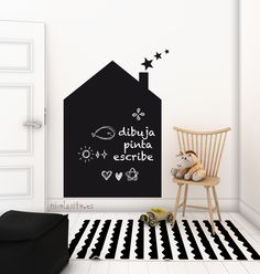 pizarra de casita house blackboard kids deco