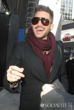 Adam Lambert at ABC Studios in New York City for an appearance on 'Good Morning America'.