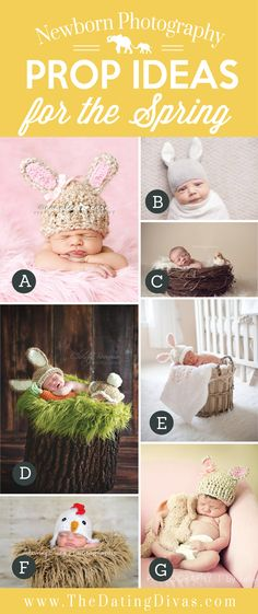 Adorable Newborn Photography Prop Ideas for Spring