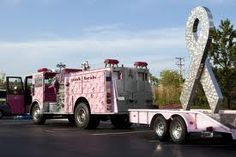 #breastcancer awareness vehicle on The Pink Heals Tour