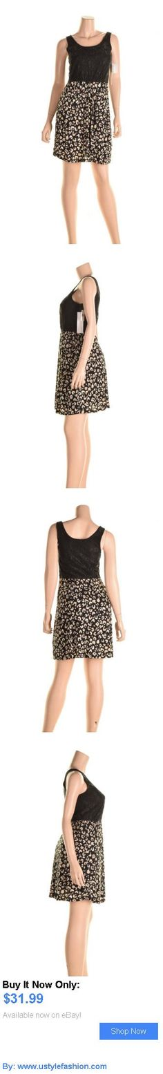Women vintage clothing and shoes: Kensie Xs Black Contrast Dress With Lace Top And Cheetah Print Skirt BUY IT NOW ONLY: $31.99 #ustylefashionWomenvintageclothingandshoes OR #ustylefashion