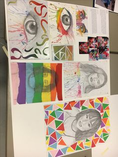N5 art and design colourful portraiture