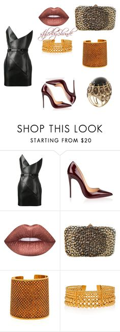 """Business Woman Gets Her Groove Back"" by sanvernetas ❤ liked on Polyvore featuring Yves Saint Laurent, Christian Louboutin, Lime Crime, Valentino and Paula Mendoza"