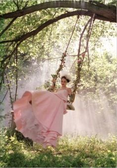I'll wear a pink dress and swing in a forest all day if I want. :))    and id love to do a photo session w someone like this!