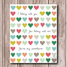 You're My Sweetheart by LittleLightPrints on Etsy