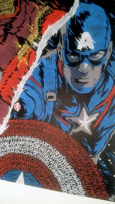 Captain America: Civil War Graffiti - Created by Oskunk